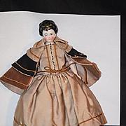 Antique Doll Miniature China Head Fancy Hair Style Earrings Dollhouse