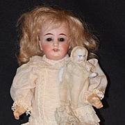 Antique Doll Bisque Head Miniature Doll W/ All Bisque Doll Sweet Set Miniature Dollhouse