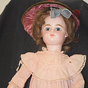 Antique Doll French Walker BeBe Wonderful Glass Paperweight Eyes Closed Mouth