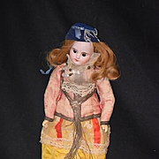 Antique Doll French Bisque BeBe FG Gaultier In original outfit French Fashion