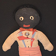 Antique Doll Cloth Doll Golliwog Gollywog Black Rag Doll