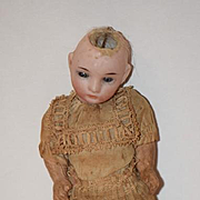Antique Doll Miniature Bisquue Dollhouse Sweet Face