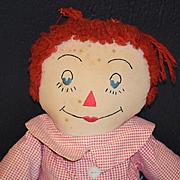 Old Doll Raggedy Andy Cloth Rag Doll WONDERFUL