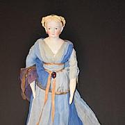 Antique Doll Parian China Head Fancy Hair Style Wonderful Conta & Boehme
