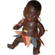 Antique Doll Heubach Koppelsdorf Black Doll W/ Original Hoops and Skirt Baby
