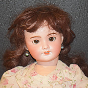 Antique Doll Bisque SFBJ 301 W/ Pull Crier Strings Sweet Face French Market