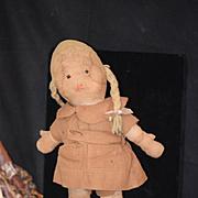 Old Cloth Doll Sylvia Georgene Averill Brownie Rag Doll