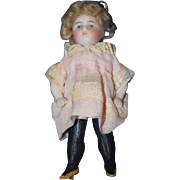 Antique Doll Miniature All Bisque Black Thigh High Stockings Dollhouse