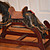 Antique Doll Rocking Horse Wood Carved Old Paint Child