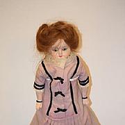 Antique Doll Papier Mache Glass Eyes Paper Mache Wonderful