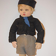 Old Doll Lenci Boy Adorable Original Outfit