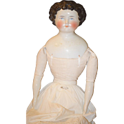 Antique Doll China Head Conte Boehme Mold Bow GORGEOUS Big Girl