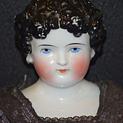 Antique Doll Dolly Madison China Head Old Cloth Body