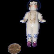 Old Doll Frozen Charlotte Miniature Dollhouse China Head