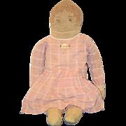Antique Doll Cloth Rag Doll  Wonderful W/ Old Clothing