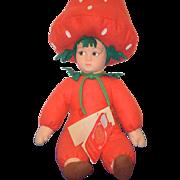 Vintage Doll Lenci Cloth W/ Tags Strawberry Girl Fragola FH 000 Adorable