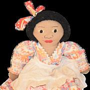 Old Doll Black Raggedy Ann Cloth Doll Rag Doll Sweet