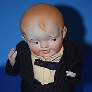 Antique Doll All Bisque Character Fat Belly Jointed