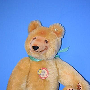 Teddy Bear Dicky Steiff Mohair Jointe Bear Smiling Bear