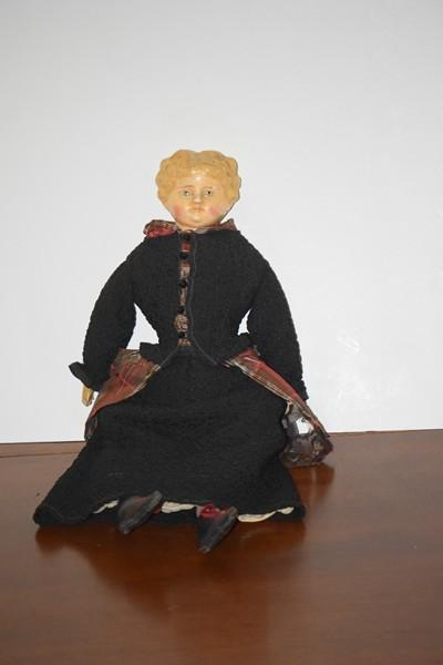 antique doll papier mache paper mache doll from oldeclectics on ruby lane. Black Bedroom Furniture Sets. Home Design Ideas