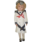 Antique Doll Schoenhut Wood Carved Jointed Dressed Sailor Suit