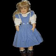 Vintage Doll Wax Artist Gillie Charlson Signed Dated Adorable Girl Niada