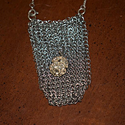 Old Doll Miniature Mesh Purse Chatelaine Fancy For Fashion Doll