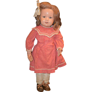 Old Doll Schoenhut Wood Carved Jointed Doll Adoarable Unusual Open Mouth Tin Teeth Eyes Open and Close