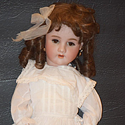 Antique Doll Bisque Handwerck Big Girl Beautiful Dressed