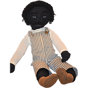 Old Doll Black Cloth Doll Rag Doll Sweet