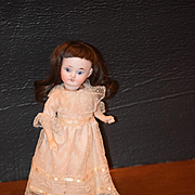 Antique Doll Miniature Bisque Doll Cabinet Size French Market Sweet