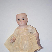 Antique Doll Miniature All Bisque 83 Jointed Glass Eyes Dollhouse