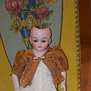Antique Doll Unusual All Bisque Miniature Dollhouse or Cabinet Size French Market