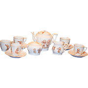 Old Doll Kewpie Tea Set Adorable Perfect for a Doll Tea Party Rose O'Neill