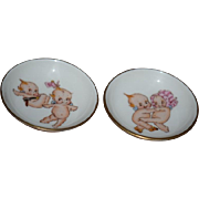 Old Kewpie Doll Haviland Limoges Miniature Plates For Doll