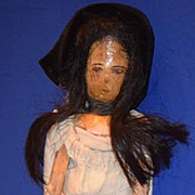Old Doll Wood Pegged Jointed Grodnertal  Lady Unusual
