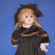 Antique Doll Bisque French TeTe Jumeau Dressed Wonderful