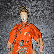 Antique Doll Oriental Chinese Empress with Provenance Original Costume