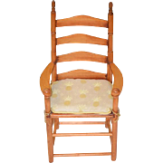 Vintage Doll Wood Ladder Back Chair Display