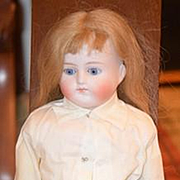 Antique Doll Bisque Turned Shoulder Head Closed Mouth French Market