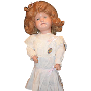 Antique Doll Schoenhut Wood Carved Jointed Original Paint Sweet W/ Schoenhut Button