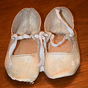 Old Doll Leather Shoes with Heel Adorable