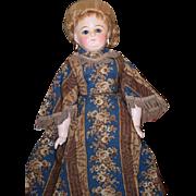 Antique Doll Papier Mache over Wax Fashion Lady Fancy Paper Mache