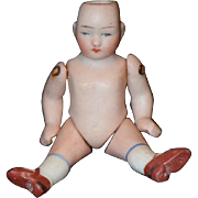 Antique Doll Miniature All Bisque Dollhouse Cutie!