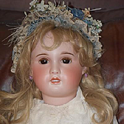 Antique Doll French Bisque HUGE SFBJ TETE JUMEAU GORGEOUS 31""