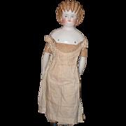 Antique Doll China Head Cafe Au Lait Spill Curl