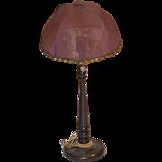 Old Doll Dollhouse Miniature Floor Lamp W/ Shade Wonderful Fancy Beads