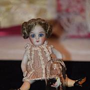 Old Doll Miniature Glass  Dome W/ Bird Inside Dollhouse Display Item