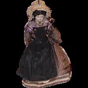 Antique Doll China Head Original Clothing Miniature Dollhouse Bisque