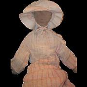 Old Doll Cloth Rag Doll Folk Art Original Clothing WONDERFUL Early